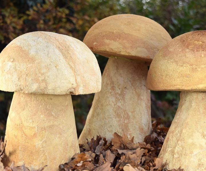 handgefertigte Naturstein Pilze